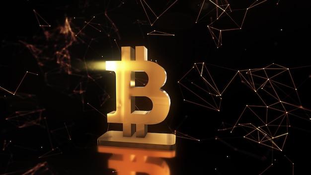 Dati astratti con il simbolo bitcoin