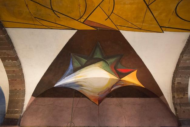 David alfaro siqueiros murales presso la scuola universitaria di belle arti, san miguel de allende, guanajuato,