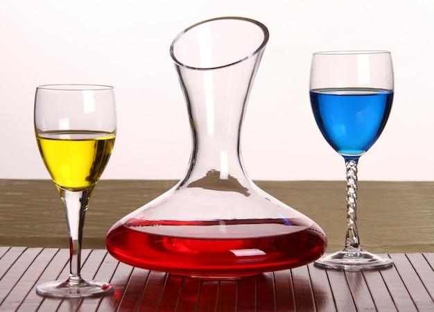 Decanter e bicchieri