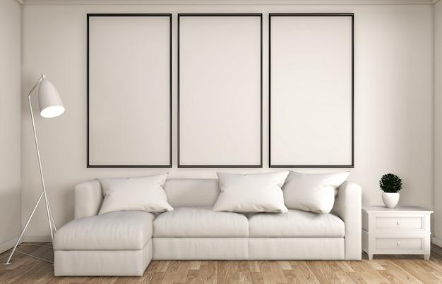 Decorazione bianca soggiorno stile giapponese