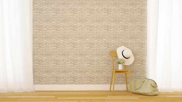 Decorazione del mattone del salone nella casa o nell'appartamento