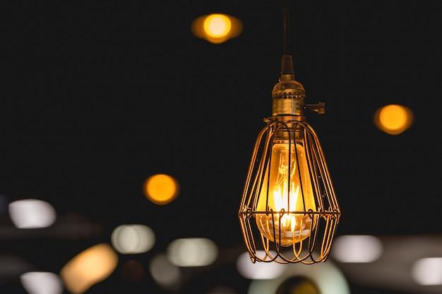 Decorazione della lampadina retrò edison.