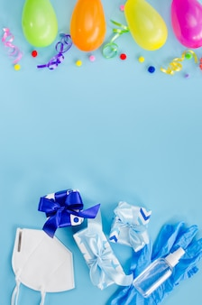 Decorazione di compleanno e attrezzature mediche
