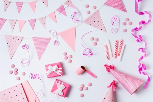 Decorazione di compleanno piatta
