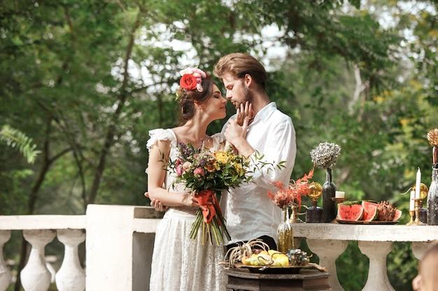Decorazione di nozze nello stile di boho