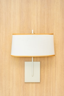 Decorazione lampada leggera all'interno della parete