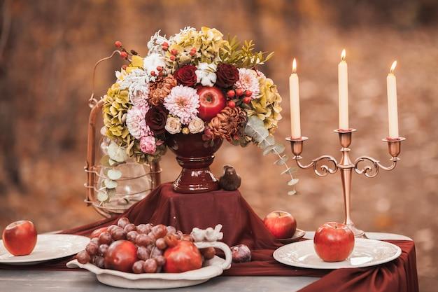 Decorazioni di nozze in un ricevimento di nozze