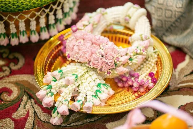 Decorazioni di nozze tradizionali tailandesi