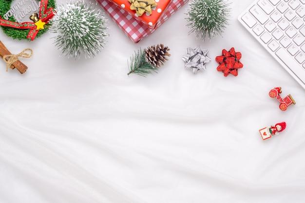 Decorazioni natalizie sfondo astratto