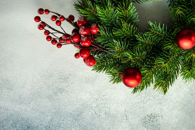 Decorazioni natalizie sullo sfondo