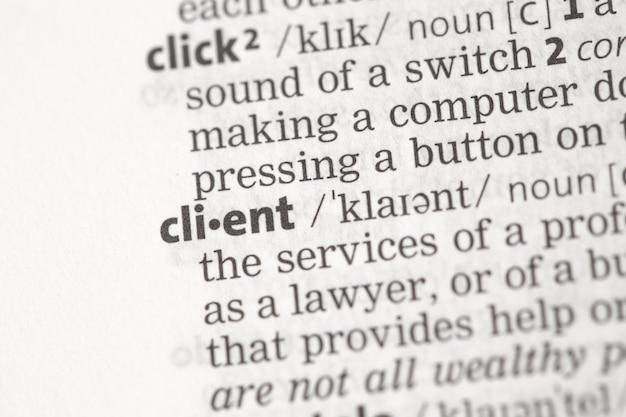 Definizione del cliente