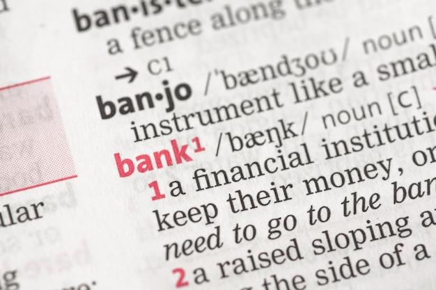 Definizione della banca