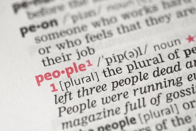 Definizione della gente