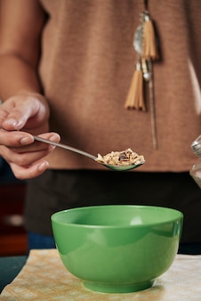 Deliziosa colazione con cereali