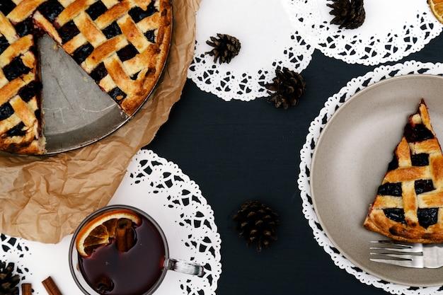 Deliziosa torta ai mirtilli