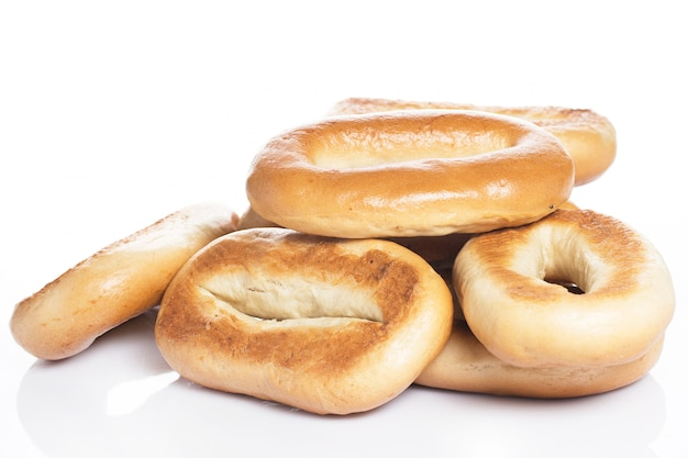 Deliziosi bagel fatti con buon grano