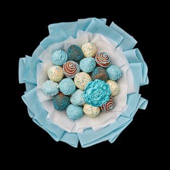 Delizioso bouquet di fragole ricoperte di cioccolato