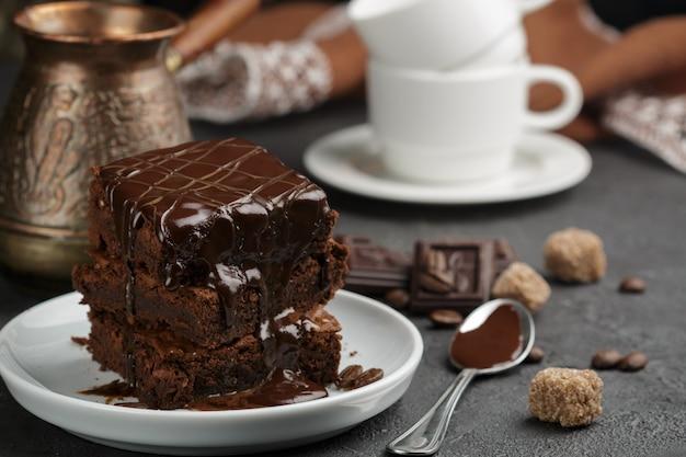Delizioso brownie fatto in casa