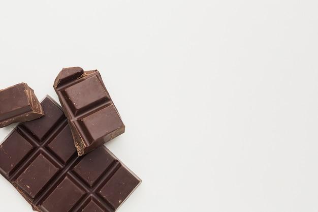 Delizioso cioccolato a piatto