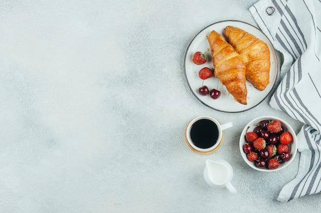 Delizioso concetto di cibo colazione
