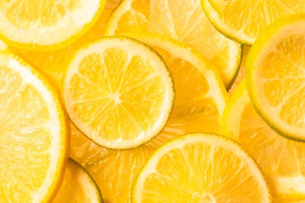 Delizioso sfondo di fette d'arancia
