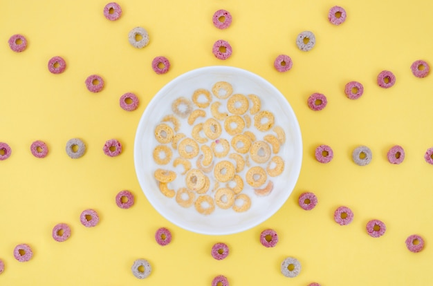 Delizioso sole fatto con cereali