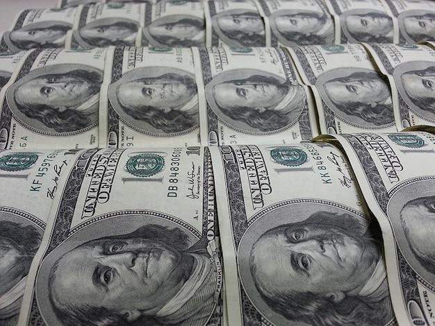 Denaro dollari benjamin franklin valuta