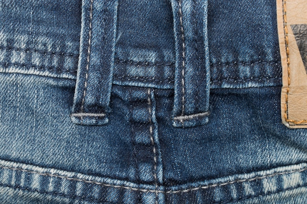 Denim closeup: trama di blue jeans.