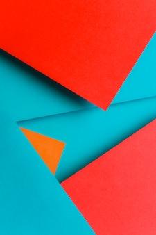 Design creativo per il blu; rosso e uno sfondo arancione