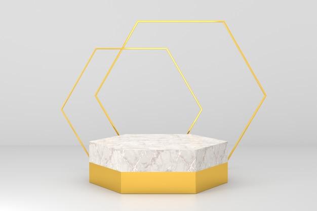 Design del display del prodotto con concetti di lusso. rendering 3d.