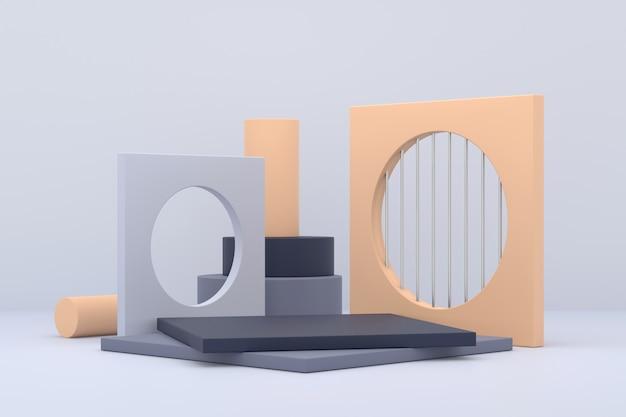 Design del display del prodotto. rendering 3d.