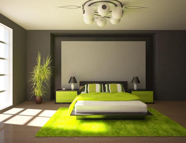 Design moderno della camera da letto