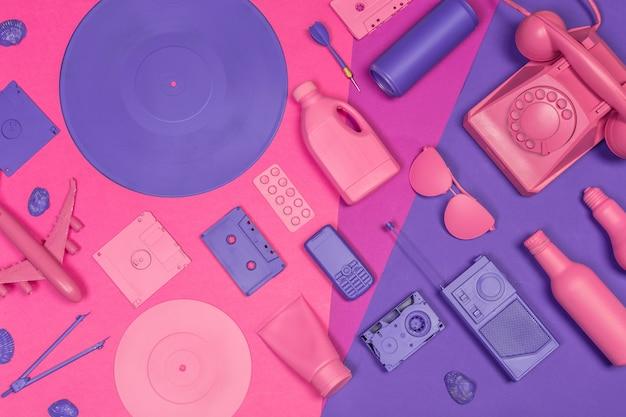 Design reattivo creativo piatto