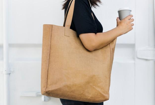 Design spazio su tote bag vuota