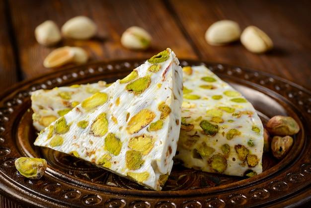 Dessert delizia turca con pistacchi