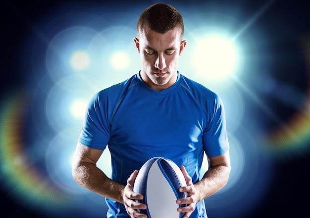 Determinato giovane adulto forma fisica seria sfida