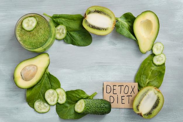 Detox day, dieta alimentare, perdita di peso, alimentazione sana con vitamine