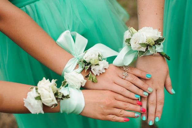 Dettagli del matrimonio della sposa
