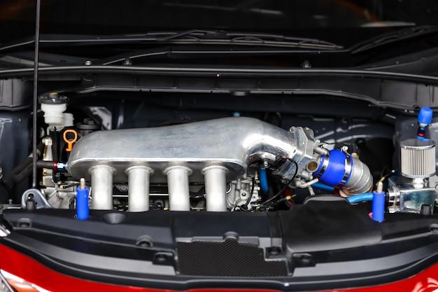 Dettagli del motore dell'auto