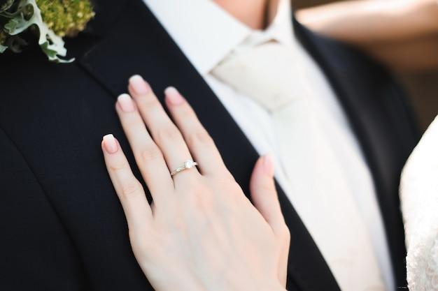 Dettagli di nozze bella sposa come sfondo