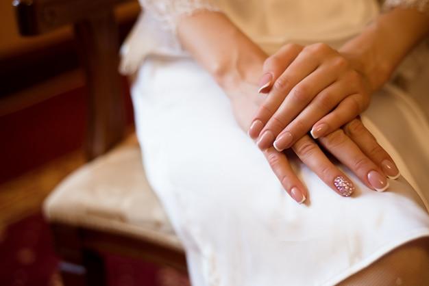 Dettagli di nozze bella sposa come sfondo.
