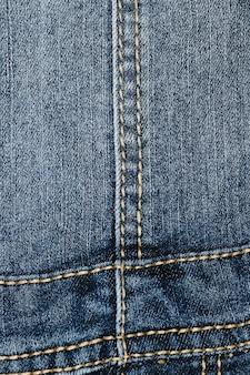 Dettagli sul primo piano dei jeans dell'annata