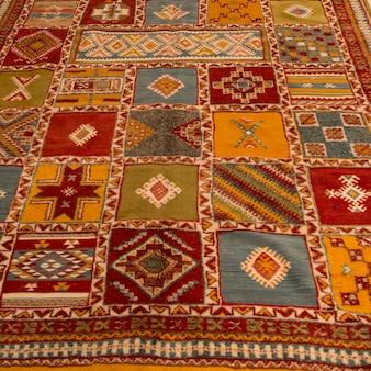 Dettaglio decorativo di un tappeto, ouarzazate, marocco
