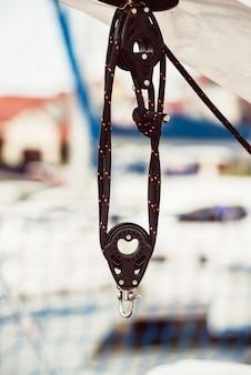 Dettaglio di yacht ricreativo