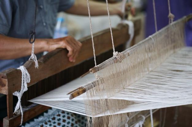 Dettaglio telaio tradizionale asia