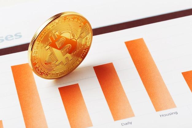 Diagramma di valuta criptato bitcoin