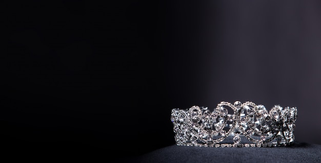 Diamond silver crown per miss pageant beauty contest