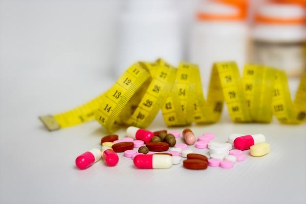 Dieta ; sottile da pillole, pericoloso per la salute.