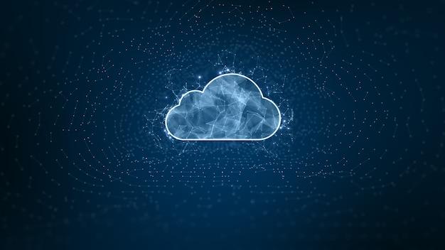 Digital cloud computing, cyber security, protezione della rete di dati digitali, tecnologia del futuro digital data network connection background concept.