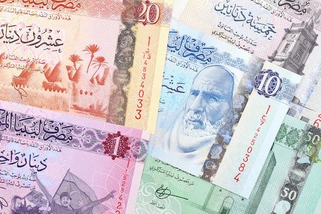 Dinaro libico, uno sfondo di affari